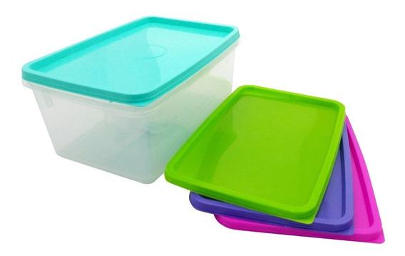 Caja Contenedor Rectangular Organizador Plastico 5 Litros