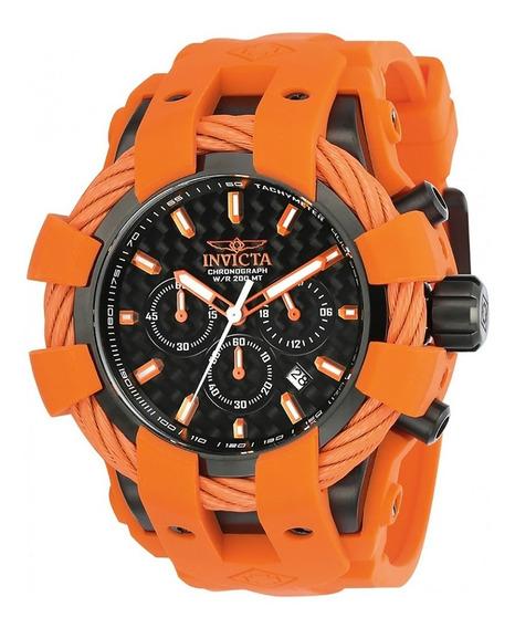 Relógio Invicta Bolt 23872 Preto Com Laranja Original