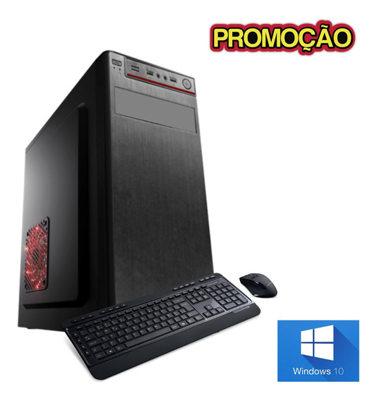 Pc Dual Core Novo Com Programas - 4gb 240gb Win10 - Brindes.