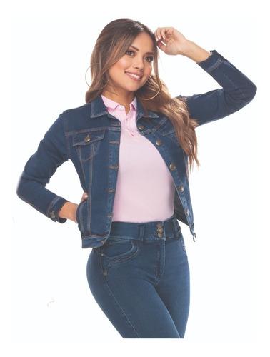 Imagen 1 de 3 de Chaqueta En Jean Mujer Gran Jeans