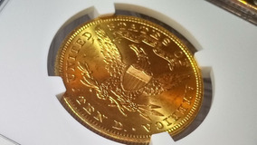 Moeda De Ouro Americana 10 Dólares Liberty Eagle $10 - Ngc