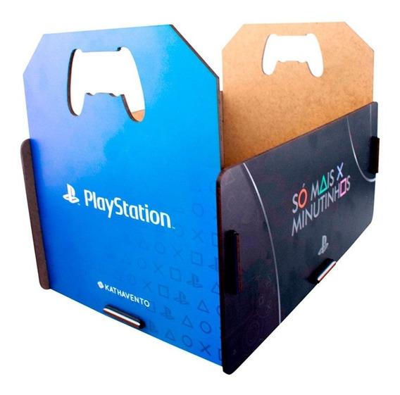 Porta Jogos Caixote Playstation Ps4