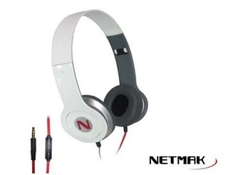 Auricular Plegable Y Manos Libres Lib/white - Netmak Nm-hs01