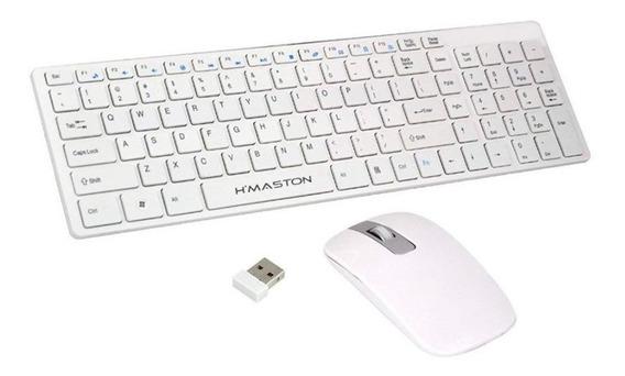 Kit Teclado Com Mouse Sem Fio - Hmaston