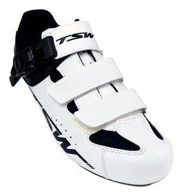 Sapatilha Ciclista Tsw Speed Rocket Preto Branco 40 41 43
