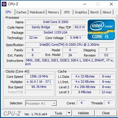 Intel Core I5 2500 3.30ghz 6mb 2ª G Sandy Bridge + Pasta Ter