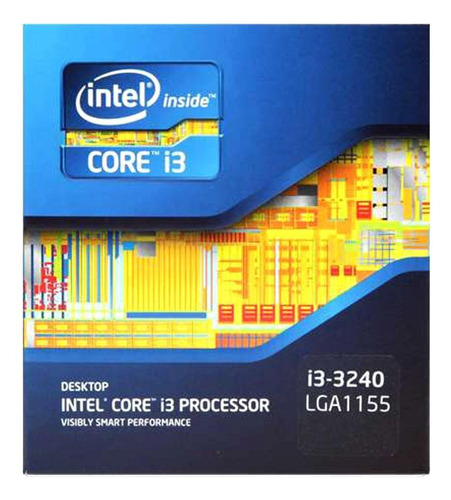 Imagem 1 de 3 de Processador Intel Core i3-3240 BX80637I33240 de 2 núcleos e 3.4GHz de frequência com gráfica integrada