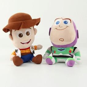Kit Pelúcia Toy Story Woody E Buzzlighyear - 20 Cm
