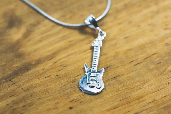 Dije Guitarra Eléctrica Plata Ley .925 |collar Unisex Guita