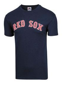 Playera Hombre Boston Red Sox Playera Majestic Fan192 Oferta