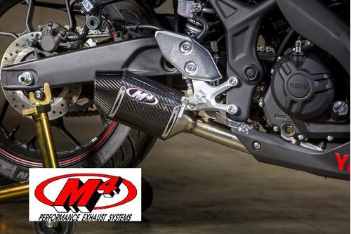 Imagen 1 de 9 de Escape Resonador Para Moto Yamaha R3 Y Mt03 - M4 Original
