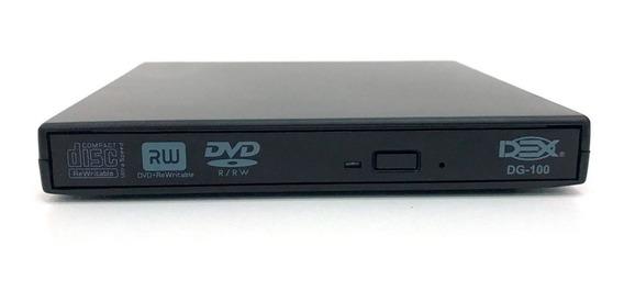 2 Gravador Drive Dvd Cd Externo Usb Portatil Modelo Slim
