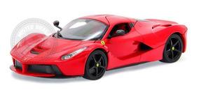 Miniatura Ferrari Laferrari Vermelha Burago 1/18