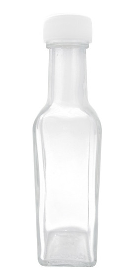 Mini Botella De Vidrio Cuadrada 50 Ml 10 Pz Tequila Bebidas