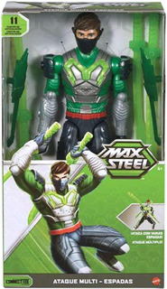 Figura De Acción Max Steel Ataque Multi-espadas
