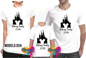 Kit 3 Pçs Camiseta - Camisa Personalizada Viagem Disney