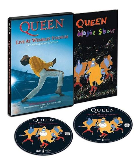 Queen - Live At Wembley 25th Anniv [2dvd] Importado Lacrado