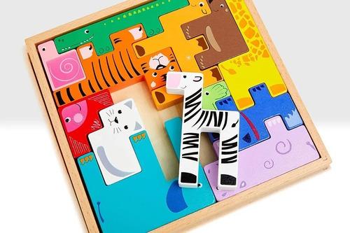 Imagen 1 de 6 de Rompecabezas Puzzle Ruso Encastre Madera Acool Ac6616 Full