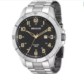 Relógio Seculus Long Life Masculino 28985g0svna1 Original