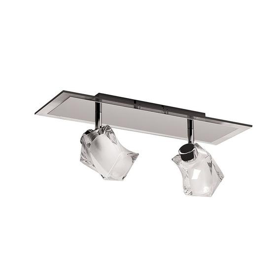 Plafon Spot De Vidro E Metal Inbarletta | Luciin