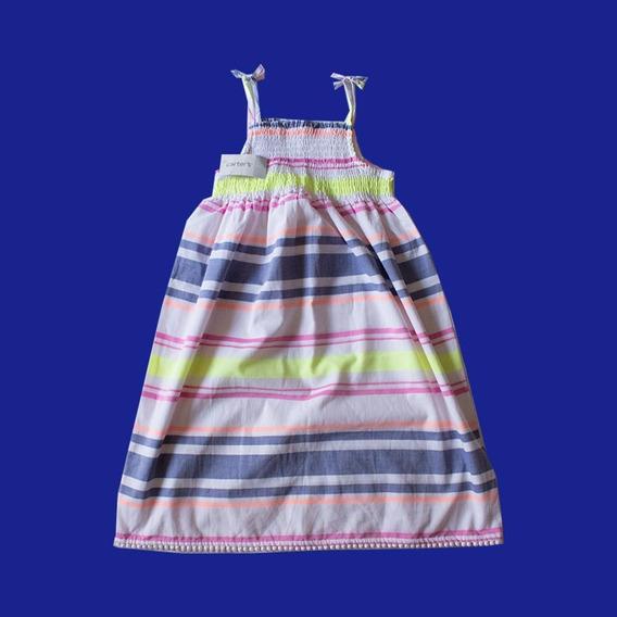 Vestido De Rayas Para Niñas Carter