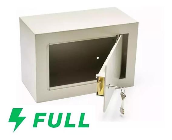 Caja Fuerte Seguridad Tesoro Dinero N° 3 Sin Buzon 30 X 20 X 15 Cm Reforzada Pared Piso Arrimar Hogar Aplicar Abulonar