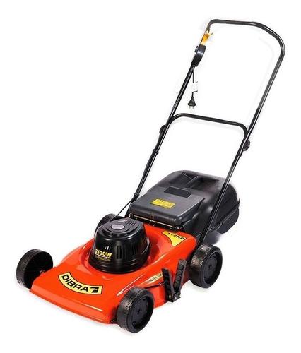 Cortadora de pasto eléctrica Dibra R45GB con bolsa recolectora 2100W naranja y negra 220V