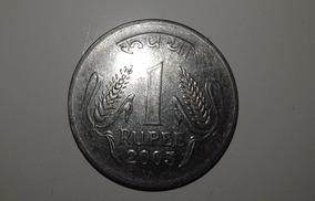 Moeda 1 Rupee Prata Índia 2003 Mbc Numismática Coleção Rara