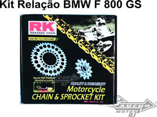 Kit Relacao Transmissao Bmw F800gs 2008-2014 Rk C/ Retentor