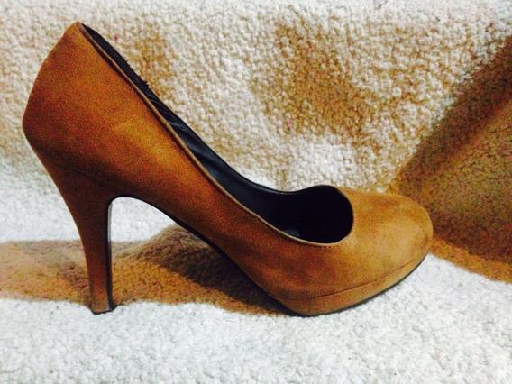 Zapatos Numero 40 Taco Alto Color Cafe Camel