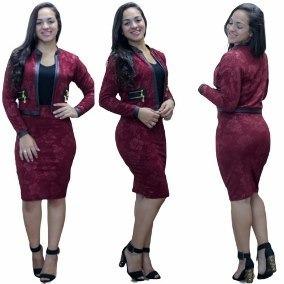 Conjunto Feminino Evangelico Social Saia Blazer Moda
