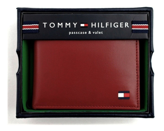 Carteira Tommy Hilfiger Original (couro Legítimo) - Vermelha