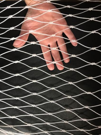 Kit Rede Tela De Proteção Medida 1,20 X 1,60 Metros Branca