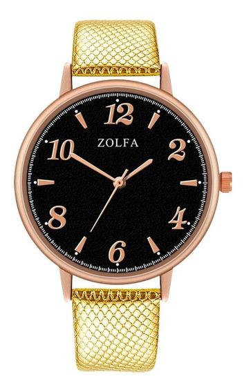 Zl101-mp Senhoras Relógio De Quartzo Pulseira De Couro Cláss