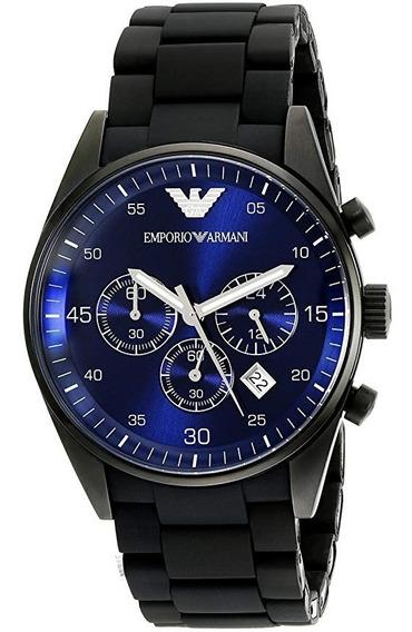 Relógio Emporio Armani Ar5921 Sport Black Silicone