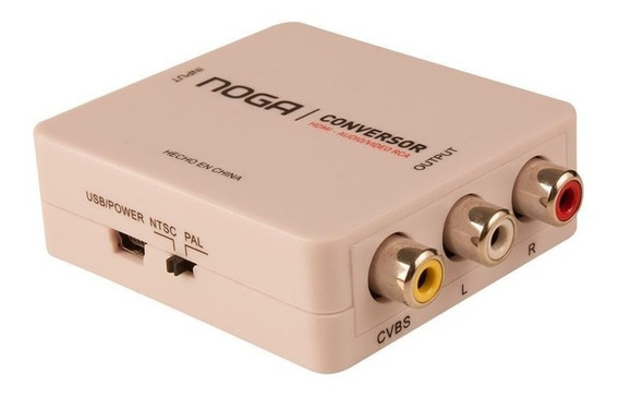 Adaptador Conversor Hdmi A Rca Audio Video Smart Tv Ps3 Noga