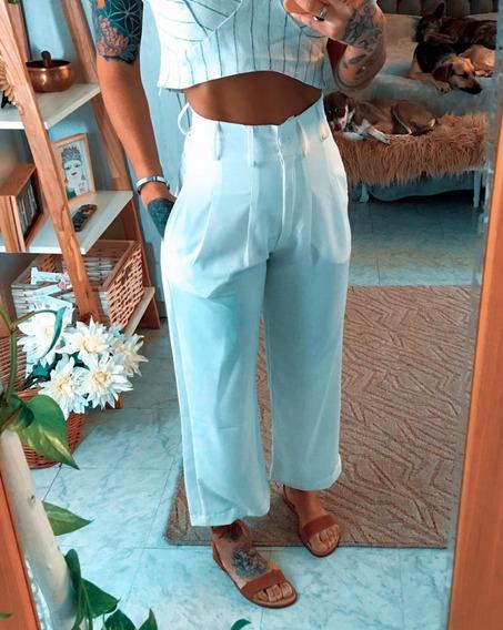 Pantalón Palazo Capri De Vestir De Mujer Dama Art 7062