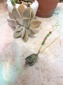 Colar Hippie Pedra Amazonita Peça Unica