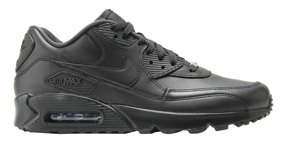 Tenis Nike Air Max 90 Leather 302519-001 Negro
