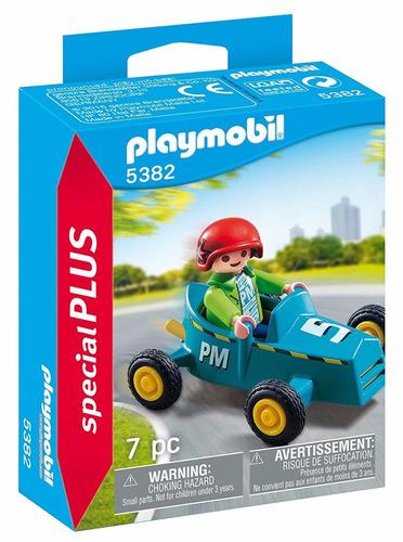 Playmobil Niño Con Karting 5382 Special Plus Figura Edu Full
