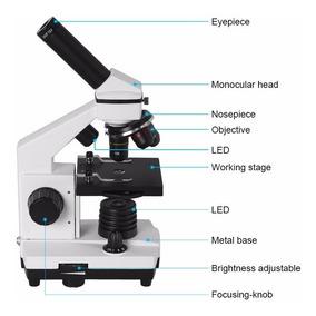 Microscópio Aomekie Profissional Monocular 640x Led-biologic