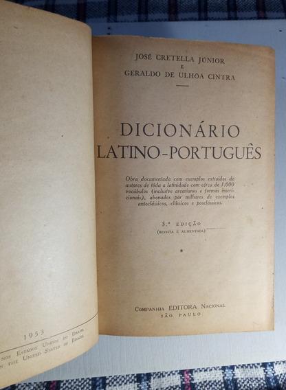 Dicionário Latino/português José Cretella Jr/geraldo C.