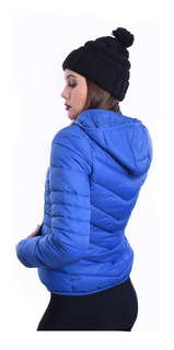 Campera Inflable Corta Impermeable Abrigada Mujer Nofret