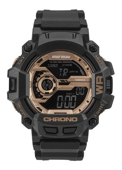 Relógio Masculino Mormaii Acqua Action Digital Preto