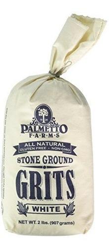 Palmetto Farms Stone Ground White Grits, 32 Oz