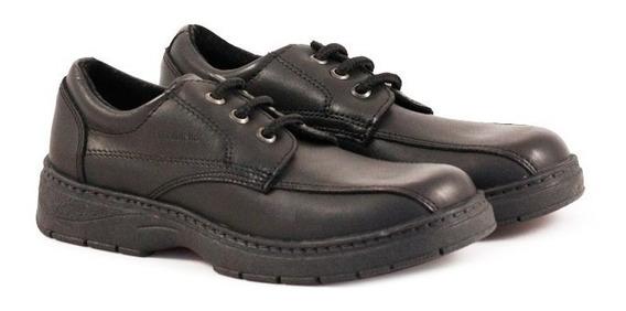 Zapatos Colegiales De Cuero Del 34 Al 38 Acordonados