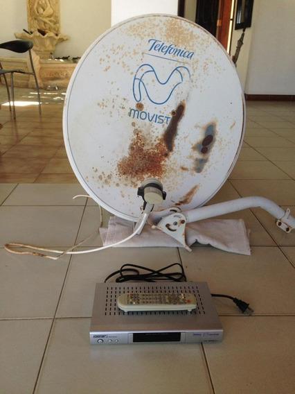 Decodificador Movistar Con Control Y Antena