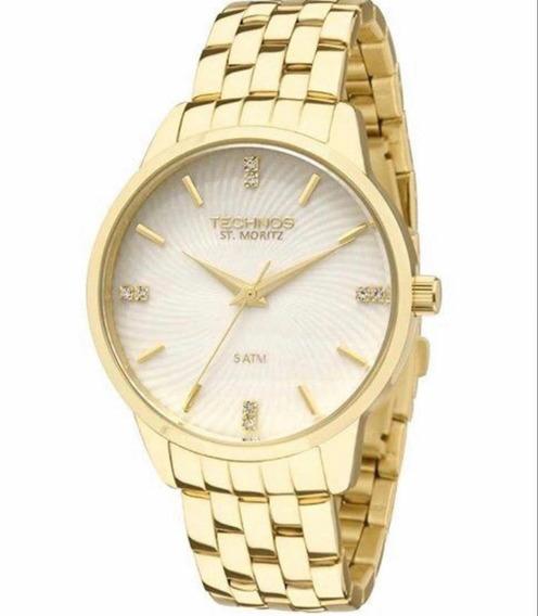Relógio Technos Feminino Dourado 2036lov/4b