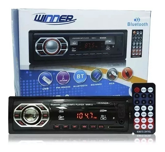 Rádio Mp3 Player Auto Winner Bluetooth Fm Sd Usb Controle