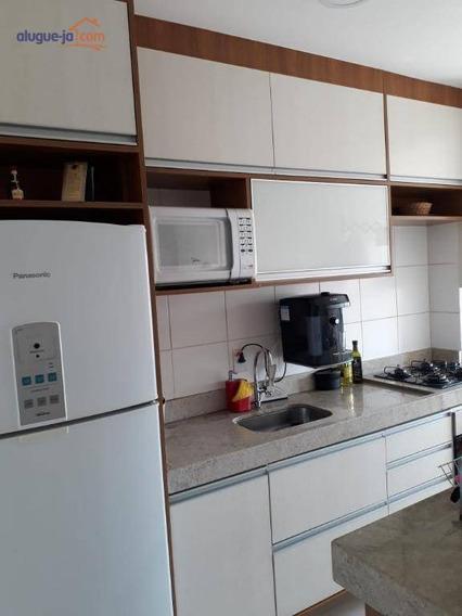 Apartamento Com 2 Dormitórios Para Alugar, 50 M² Por R$ 1.200/mês - Parque Residencial Flamboyant - São José Dos Campos/sp - Ap7315